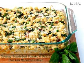 Healthy Solutions Spice Blend Blogger Challenge: Creamy Sundried Tomato & Basil Italian MacaroniBake