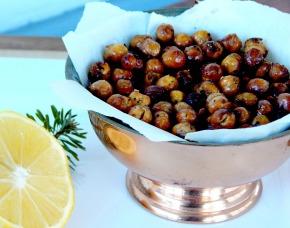 Meyer Lemon and Rosemary Roasted GarbanzoBeans