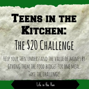 Teens in the Kitchen:  The $20 Challenge