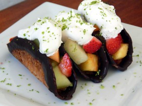 Coconut Fresh Fruit Taco Thins with LimeCocoWhip