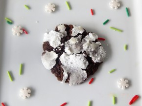 Gluten Free Triple Chocolate Mint Crinkle Cookies