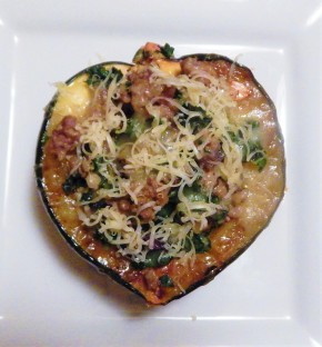 Quinoa Stuffed Acorn Squash with Havarti Cheese