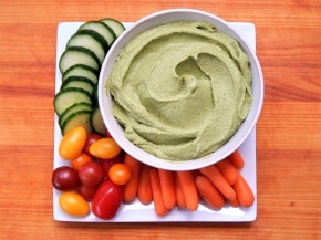 Lemon, Basil, and Kale Hummus