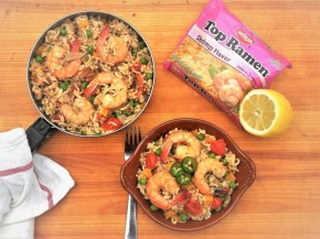Camping Cuisine: Shrimp & Vegetable Ramen Paella