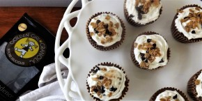 No Bake Mini Granola Chocolate Cream Pies