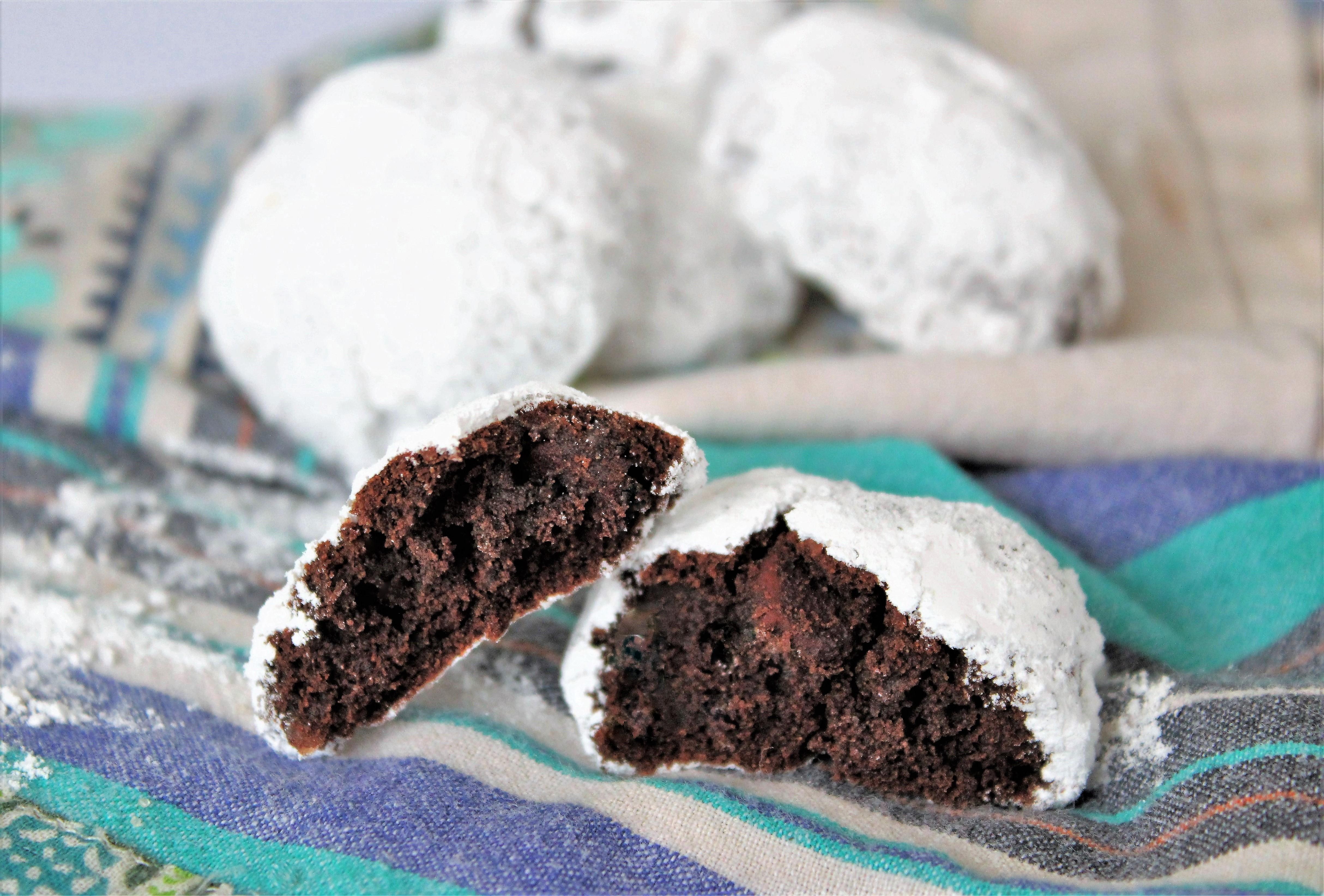 Gluten Free Chocolate Gingerbread Snowball Cookies The Gluten Free