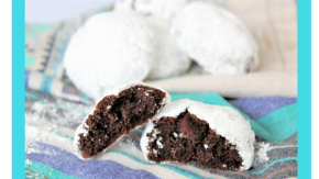 Gluten Free Chocolate Gingerbread SnowballCookies